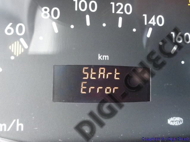 Réparation start error Mercedes