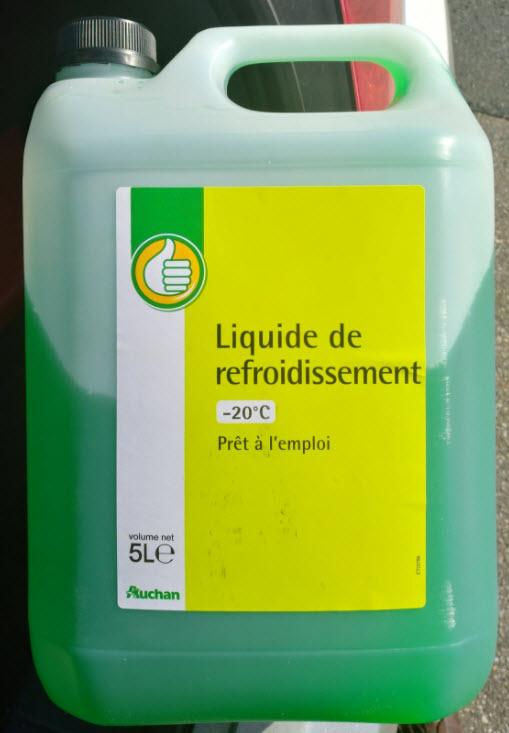 Le liquide de refroidissement automobile